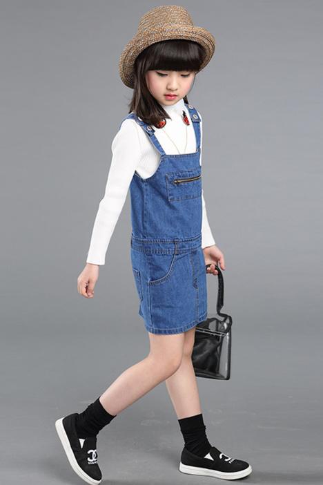 【棉花田童装】童装儿童女孩女童纯色吊带背心裙连衣裙