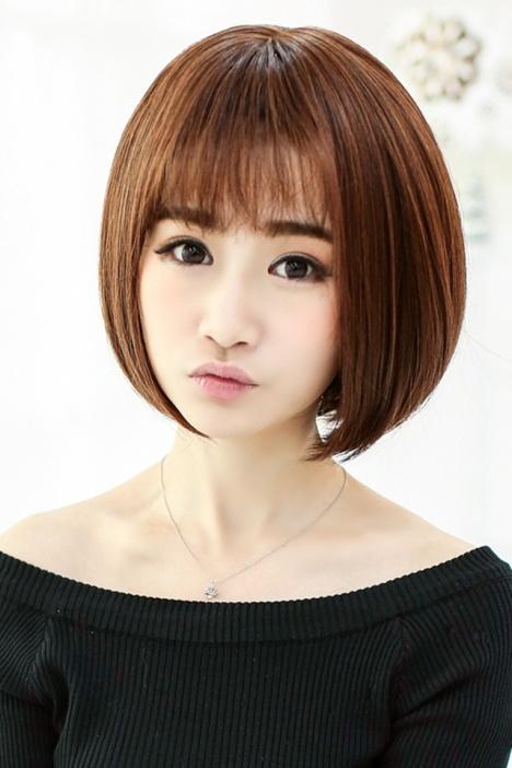 假发女短发bobo头沙宣头薄卷齐刘海女生甜美发型假发图片