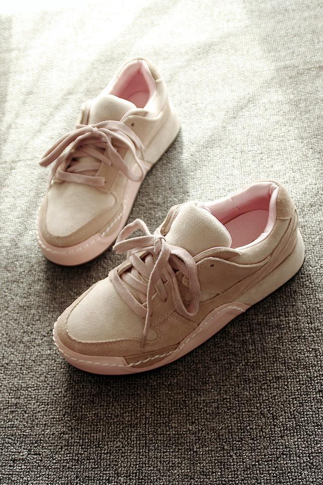 【韩国ulzzang原宿真皮运动鞋】-鞋子-女鞋