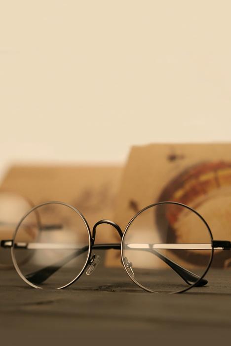 复古圆形眼镜女眼镜架金属框架潮