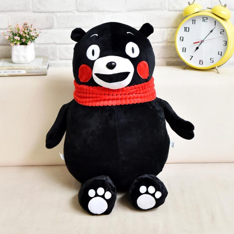 熊本熊毛绒玩具布娃娃呆萌熊吉祥物创意玩偶活动日本黑熊抱枕礼物