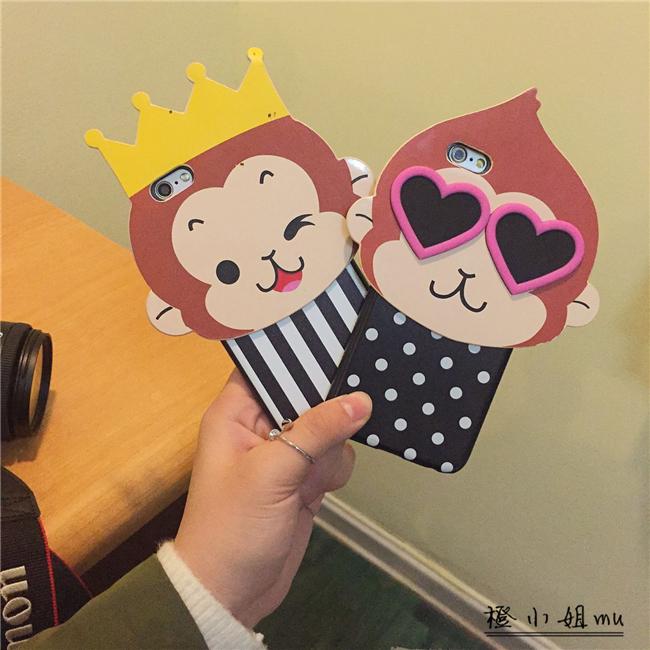 【卡通大头猴子iphone6s