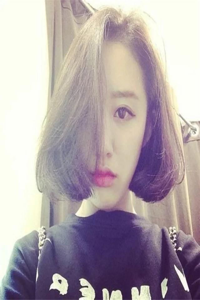 韩国女生气质中分bobo头 假发女 短发 梨花头帅气蓬松自然 短卷发图片