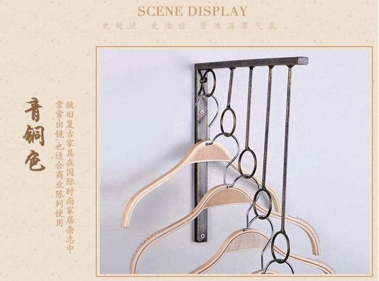【欧式服装店衣架展示架货架展架壁挂上墙铁艺服装架