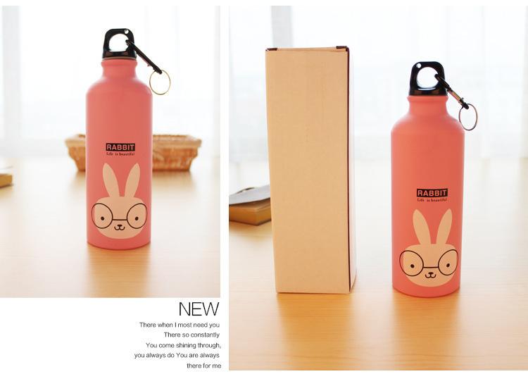 卡通动物铝质运动水壶随手杯子,卡通随行,携带方便,安全又放心.
