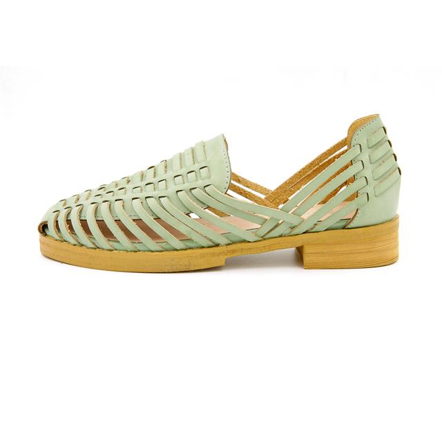【【新品上市】编织复古平底猪笼鞋】-鞋子-女鞋_凉鞋