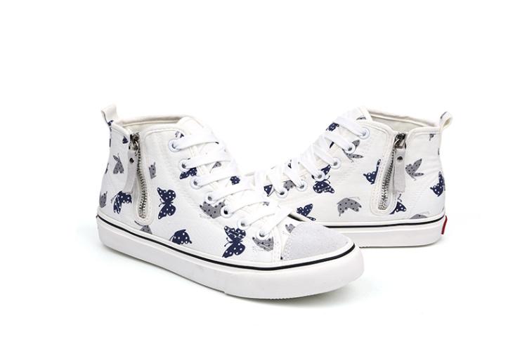 女款个性蝴蝶花纹时尚休闲鞋】-鞋子-女鞋