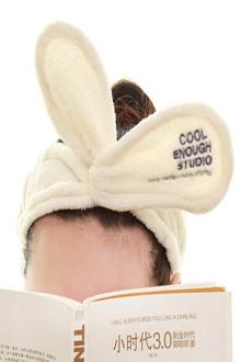 她很漂亮高俊熙同款发带可爱韩国洗漱洗脸头饰兔耳朵束发带发箍$16
