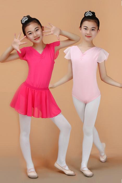 儿童芭蕾舞服练功服连体服芭蕾裙 女童芭蕾舞裙演出舞蹈服体操服