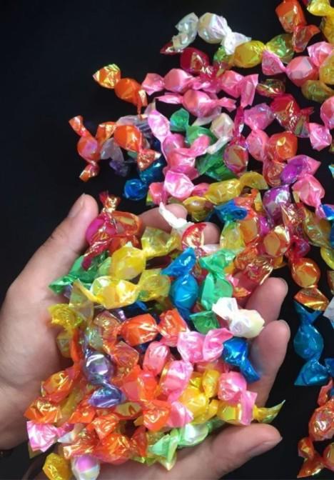 千纸鹤多彩糖许愿糖水果糖彩虹糖小酸酸小硬糖婚庆漂亮糖果