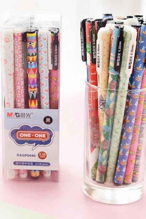 【【包邮】晨光文具中性笔黑色水笔学生办公创意文具