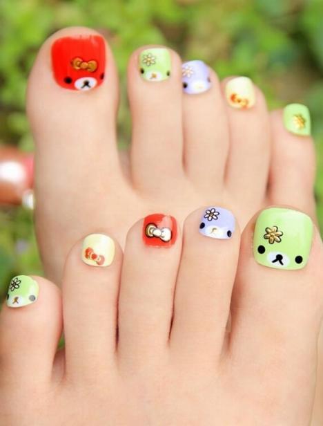 卡通可爱脚趾甲贴纸可做儿童的指甲贴纸防水美甲贴纸健康环保