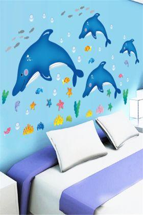 超萌可爱卡通海豚