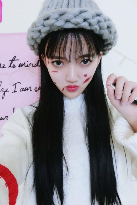 时尚空气刘海原宿日常韩国清新女生黑色长直发蓬松逼真个性假发套
