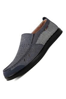 新款老北京布鞋男夏季中老年人爸爸鞋透气网布鞋子休闲鞋男鞋网鞋$