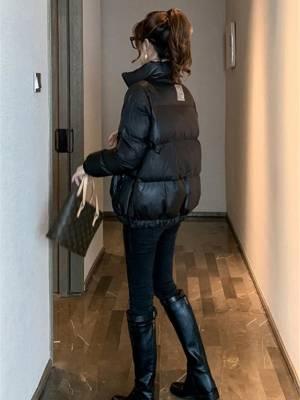 【张爱菜】领棉服女2020冬季新款加厚时尚修身显瘦亮面面包服 #我的秋冬必备单品#