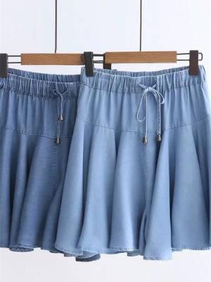 【艳姐cdyy】裤裙女新款短裤夏学生韩版宽松高腰显瘦牛仔短休闲胖妹妹群裤