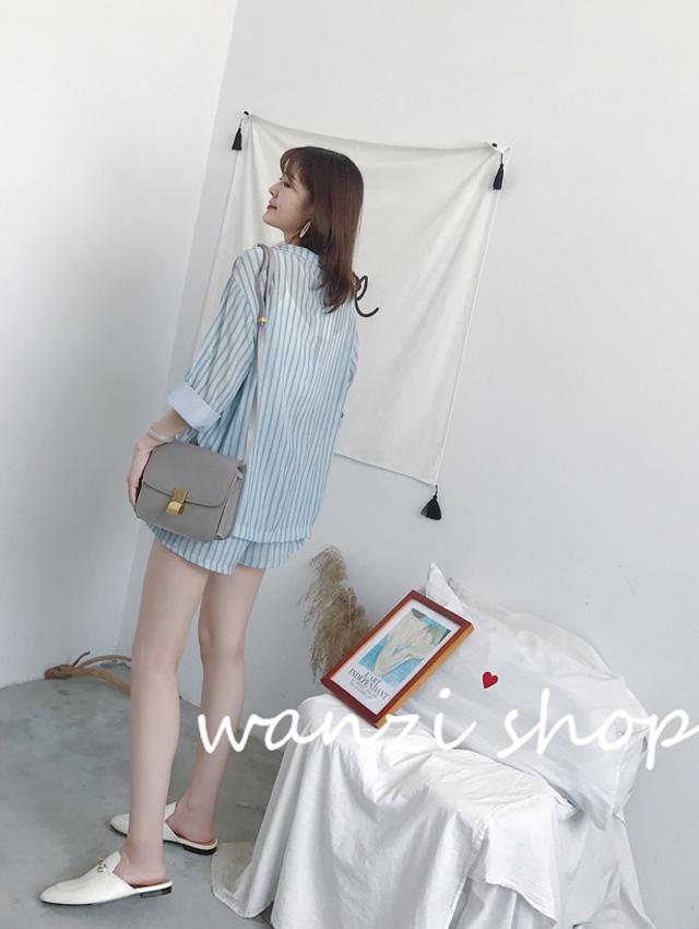 Blue stripes (coats + shorts)