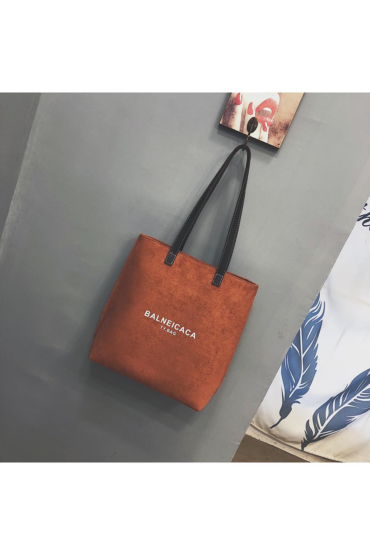 Big bag 2018 New shoulder Bag large capacity female bag Fall winter Retro  Scrub Tote Korean version hundred-Pack tote bag Print Letter Pack 99a48c49b9a4d