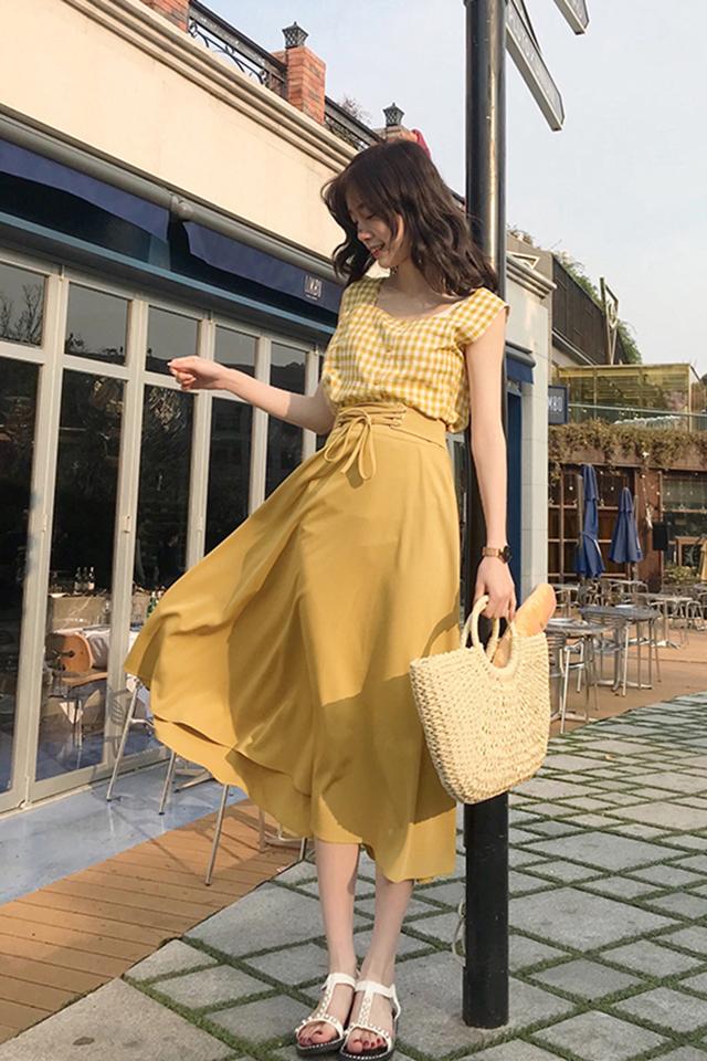 夏季2019新款时尚套装衬衫半身裙两件套小个子春装女套装连衣裙气质套装胖MM显瘦休闲仙女裙