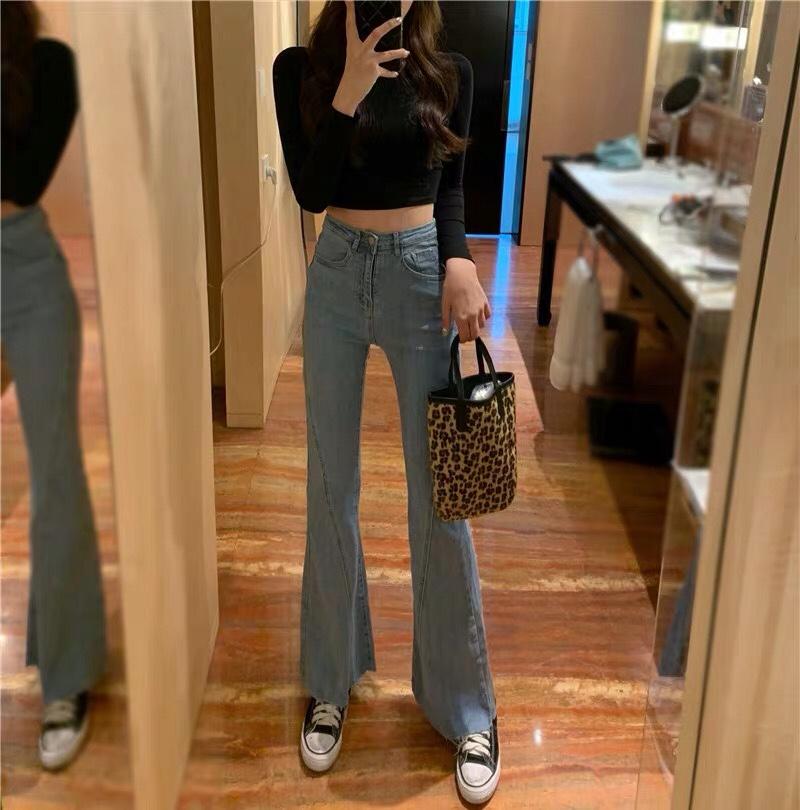 黑色t➕牛仔裤 简约时尚#MOGU STUDIO#