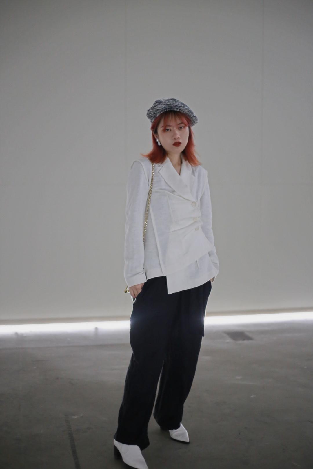 """看展穿搭  西装 darkwave 裤子 rimless 包 jwa 帽子 annomundi #""""不正经""""衬衫,无形撩最致命#"""