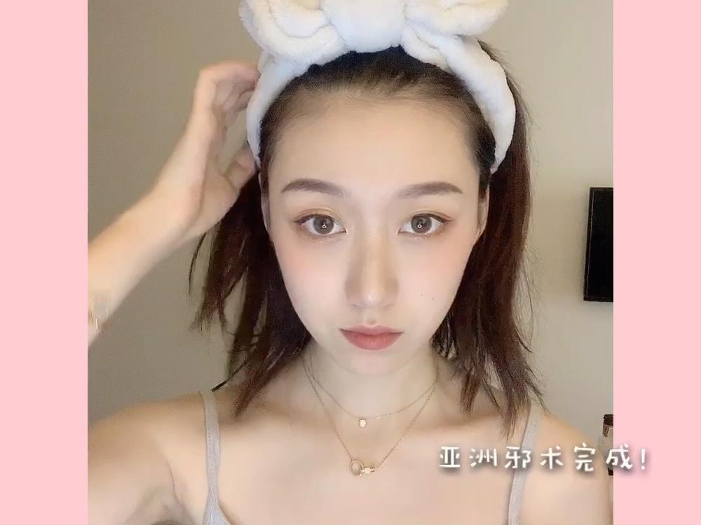 超适合夏天的妆容,这次使用到的产品都不会脱妆哦~性价比也超高的#美妆#
