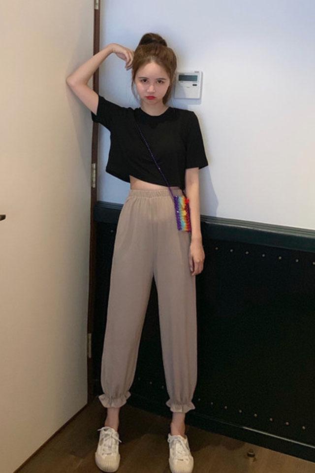 时尚套装女2019夏季流行女装很仙洋气减龄搭阔腿裤套装两件套