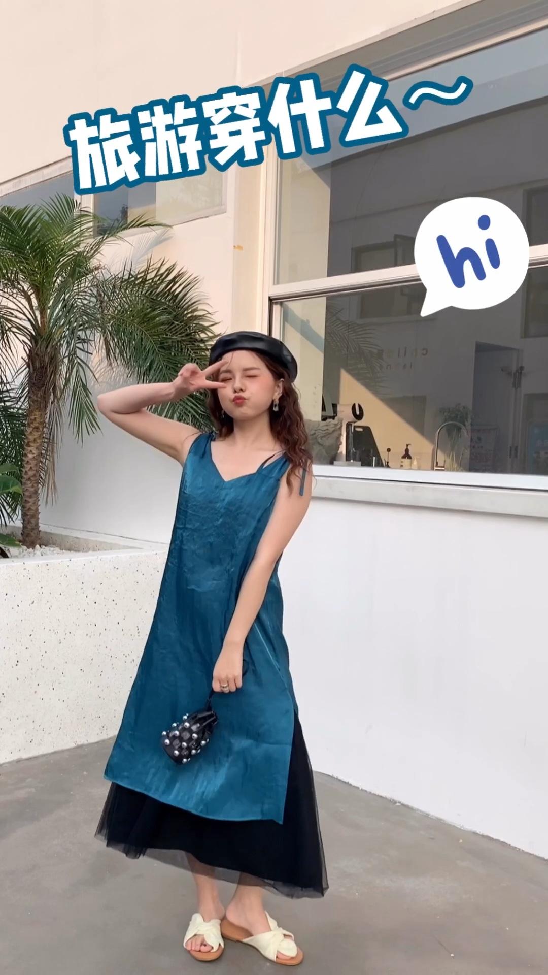 #越穿越瘦,梨形mm福音# 蓝色真的是超级显白的一个眼神 很爱啦 谁穿谁好看 是一款很少女的款 爱了爱了 是不是气质的一件 夏日必备