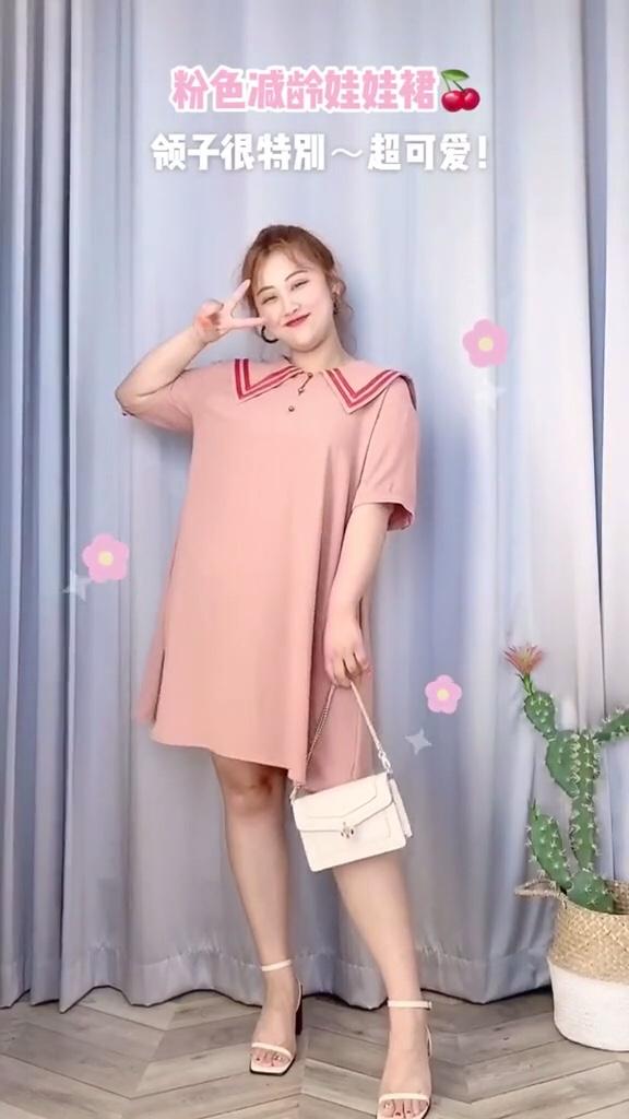 #38度,露肌穿搭透心凉#  胖女孩衣服选对真的很重要 但是那些90斤的大码模特是认真的吗 微胖女生 160斤穿搭