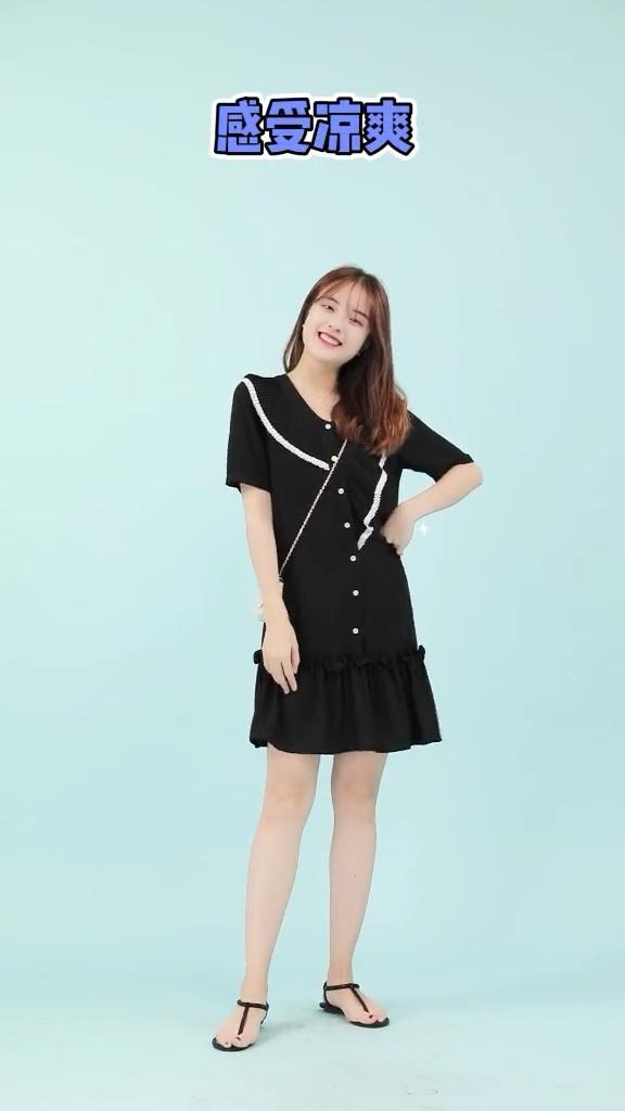 我要变好看,你们今天穿什么颜色的呢😄#显瘦连衣裙年终盘点#