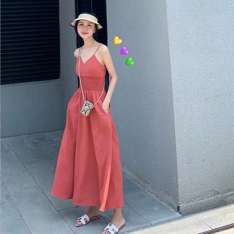 吊带红色仙裙~❤️ 气质味十足 适合上半身瘦➕下身胖的 #微胖穿搭,穿越《长安十二时辰》#