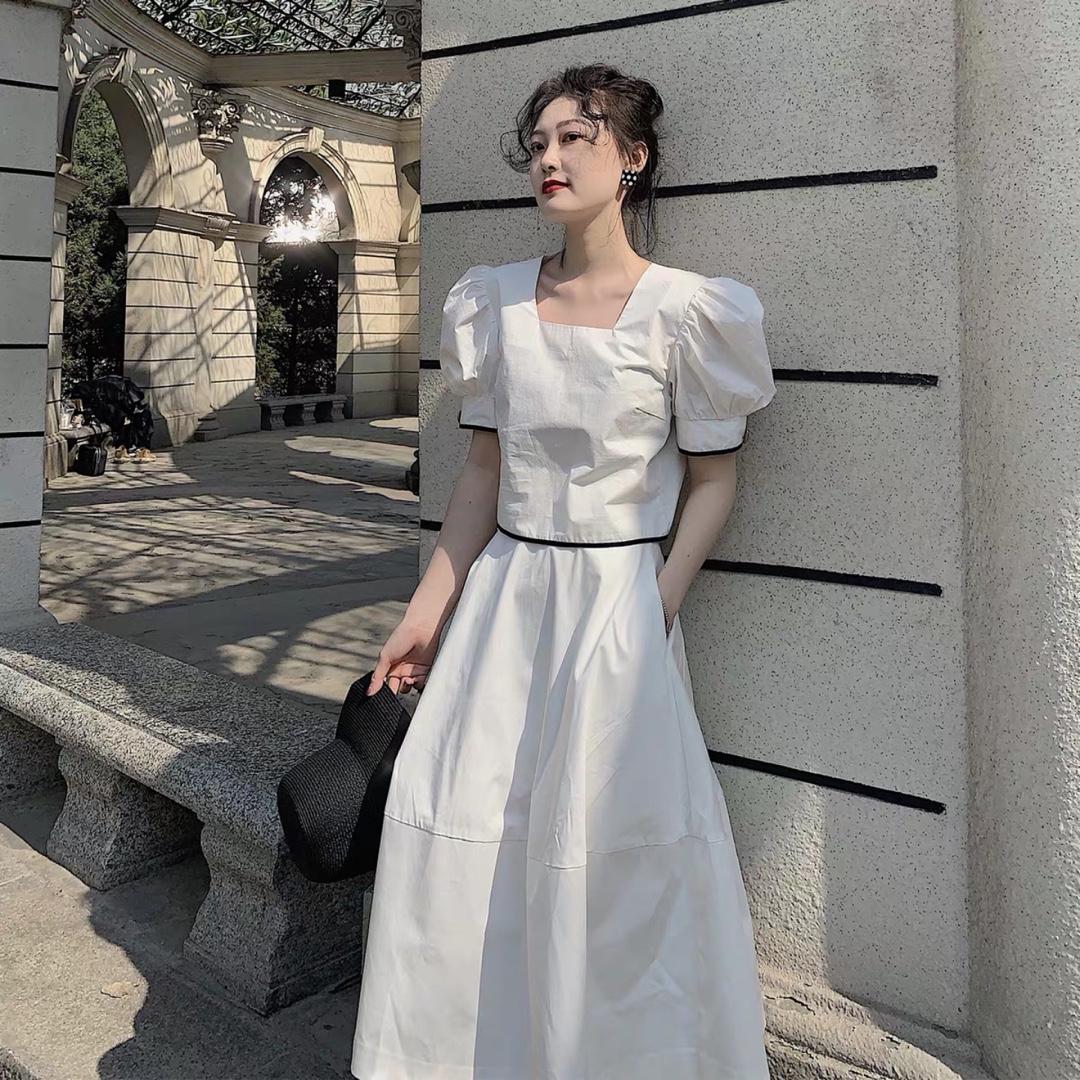 白色法式连衣裙👗 气质成熟#法式穿搭,气质值+100!#