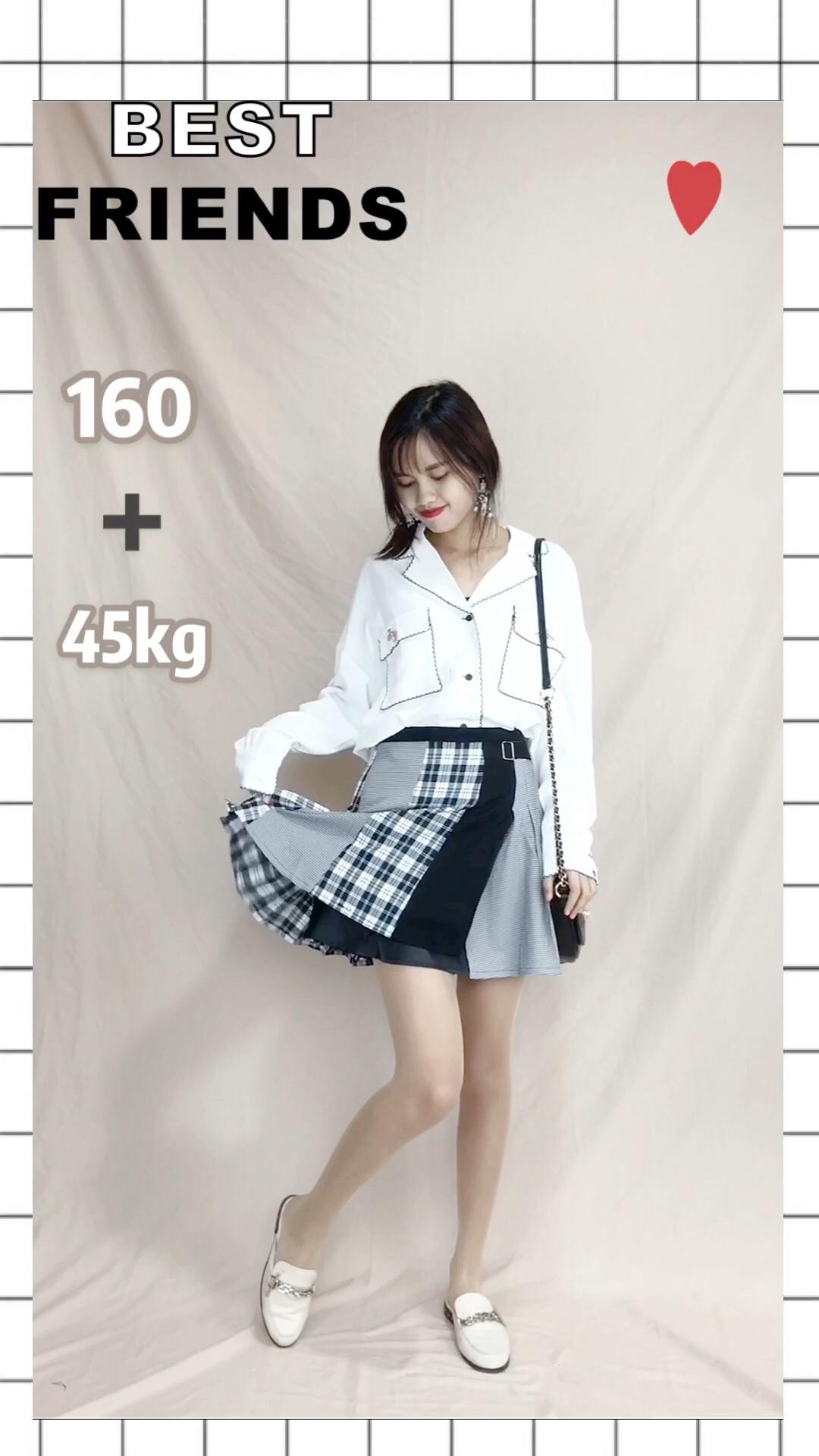 """#""""减肥""""方法有多野?试试这套# 凉爽秋季即将来临~清凉套装必入 上衣:雪纺简约风衬衣,面料非常清凉透气,简约的设计看起来更加淑女气质了,微胖妹子也可以入手哦,非常修身显瘦 裙子:非常有特点有设计感的一条半身裙,拼接黑灰色和格子元素,看起来非常有新鲜感,搭配各种上衣都是百搭好看,价格也很亲民"""