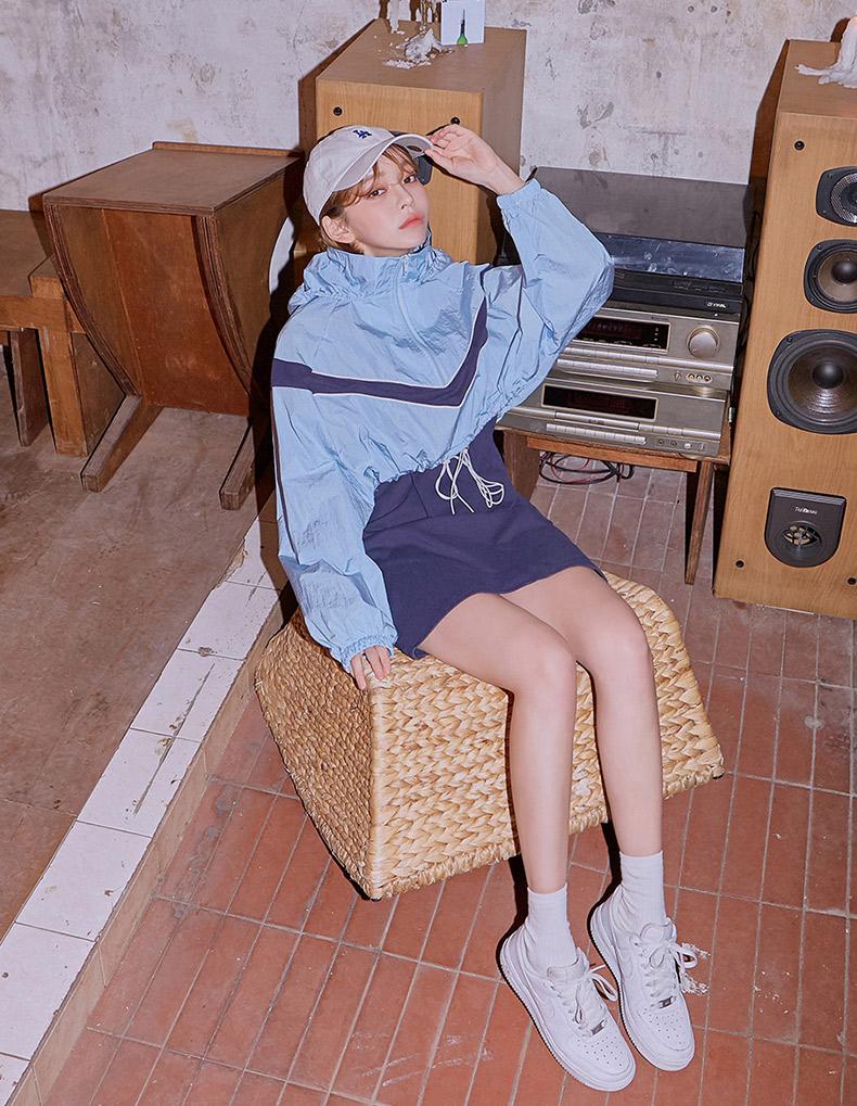 chuu秋季套装两件套❤ 蓝色韩版很洋气哦😘 运动风的小姐姐超爱的一款哦!👀#秋装上新,穿搭打卡#