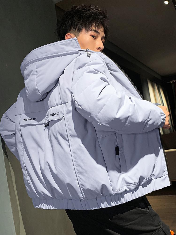 羽绒服男士外套男短款秋季冬季新款韩版男生加厚保暖上衣宽松潮流