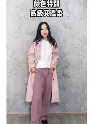 颜色超好看的阔腿裤!梨型身材必备!和衬衫是同一个套装里哦~遮肉显瘦选它准没错~腿粗女孩必入!#双11微胖女孩这几种风格必须有!#