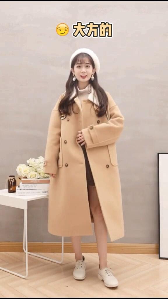 #双11一衣多穿省钱攻略#  大衣🧥是女生衣柜里必不可少的一件衣服,显瘦高档大方😄