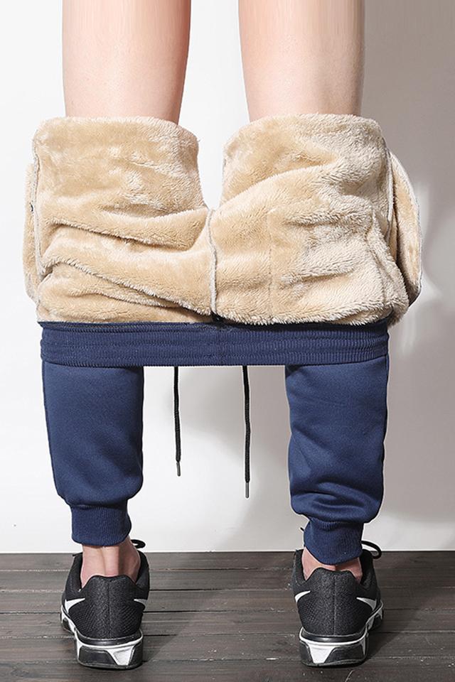 冬季男士运动裤新款羊羔绒加绒加厚韩版保暖抗寒束脚百搭休闲卫裤