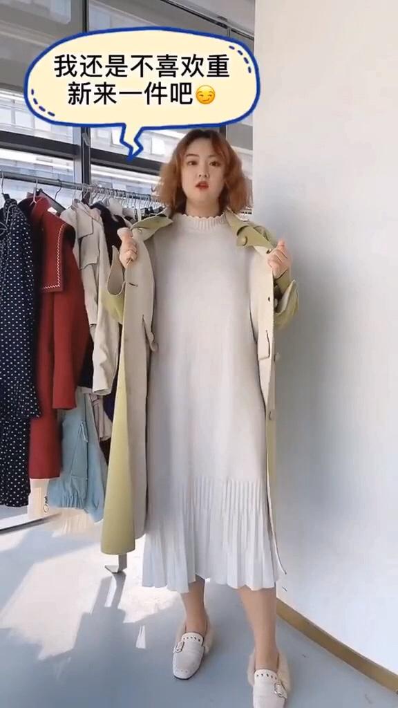 #双十一卖爆了的显瘦单品!#  微胖女生的必备,打底针织连衣裙超好看显瘦喔……搭配大衣或者单穿都是可以的呢!