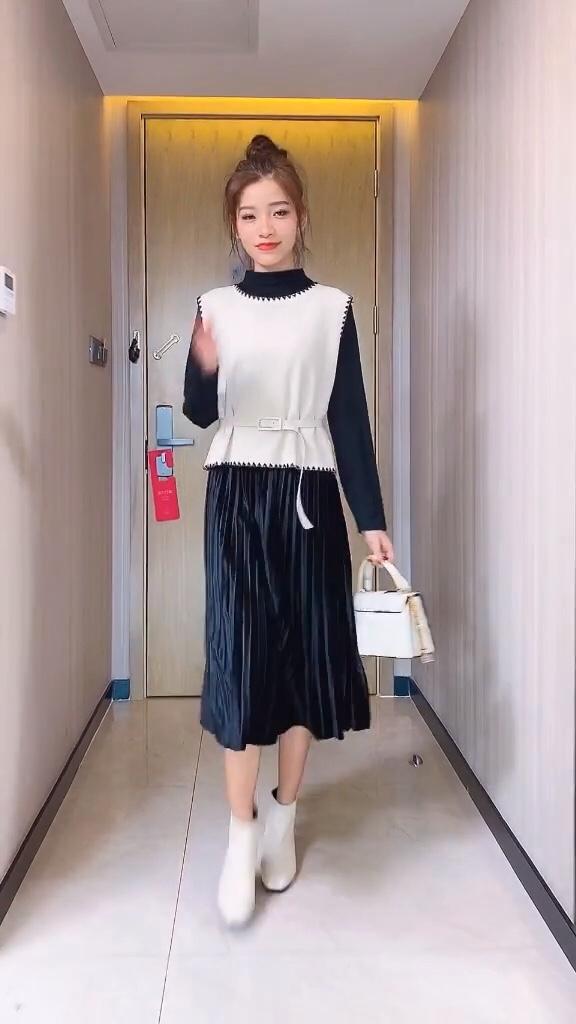 单穿打底都好看的裙子精致女生必备#大降温!你为过冬做了哪些准备?#