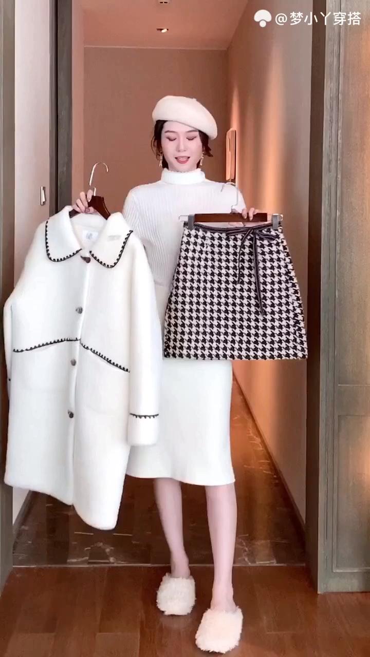 #秋冬上班装,如何保持精致#秋冬新款女装韩版修身显瘦长袖外套
