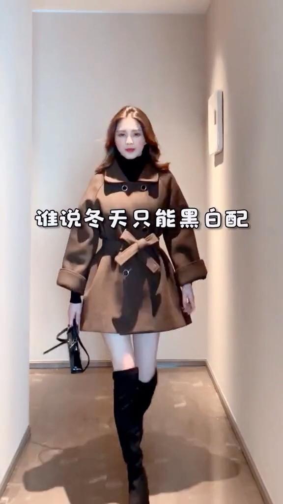 谁说冬天只能黑白配,更多颜色搭配看我的#12月第一件外套买这件!#