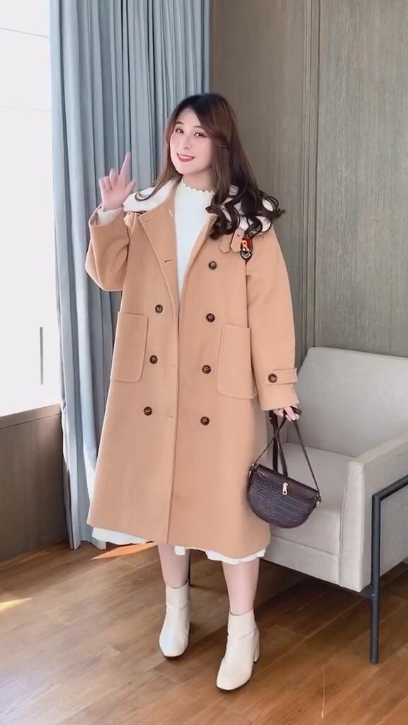 冬天也可以打扮的美美哒!这款大衣绝对合适您#年会穿搭,神仙打架你准备好了吗?#
