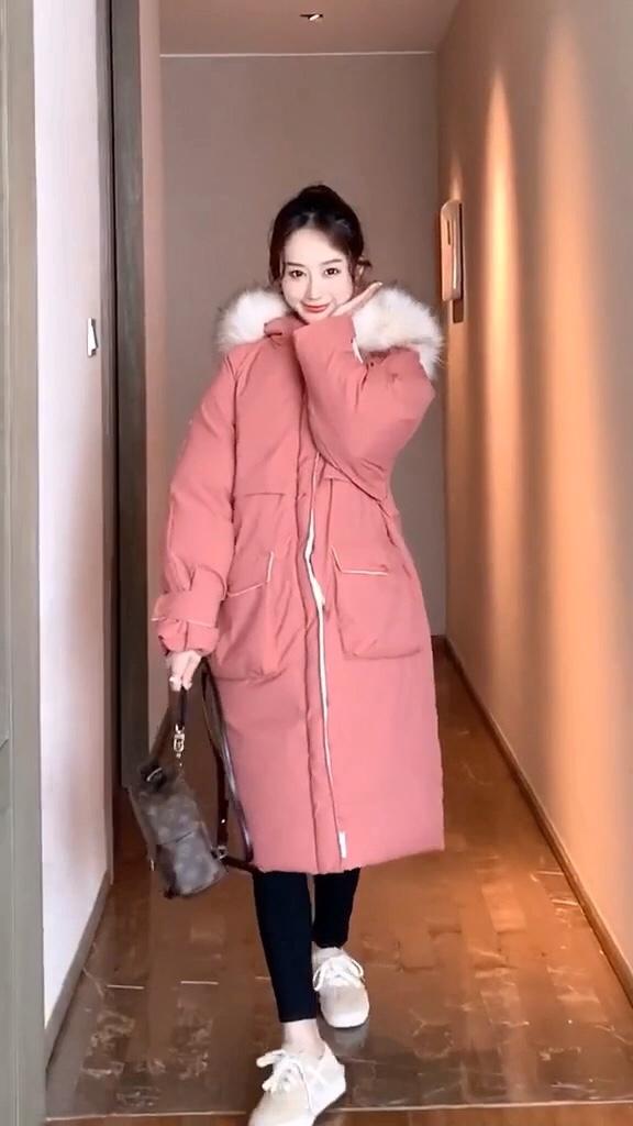 今年韩国最流行的长款棉服#稳赢!年底聚会战袍推荐#