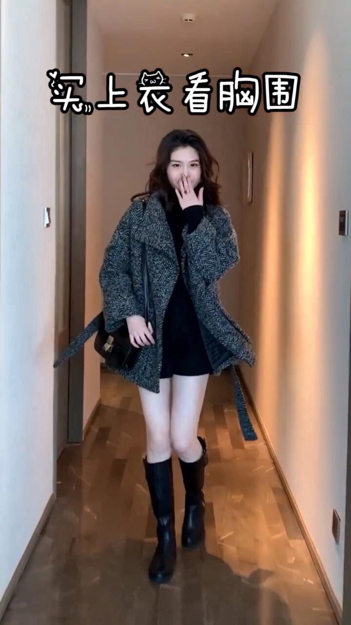 #微胖女孩冬日如何显瘦?#直男杀手必备:网红针织套装#