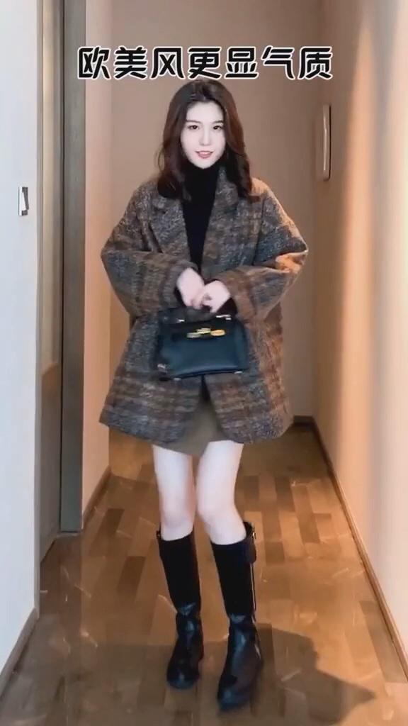 身高决定你的穿衣风格,你是哪种身高呢#厚外套+裙子,我嗑过最甜的cp!#