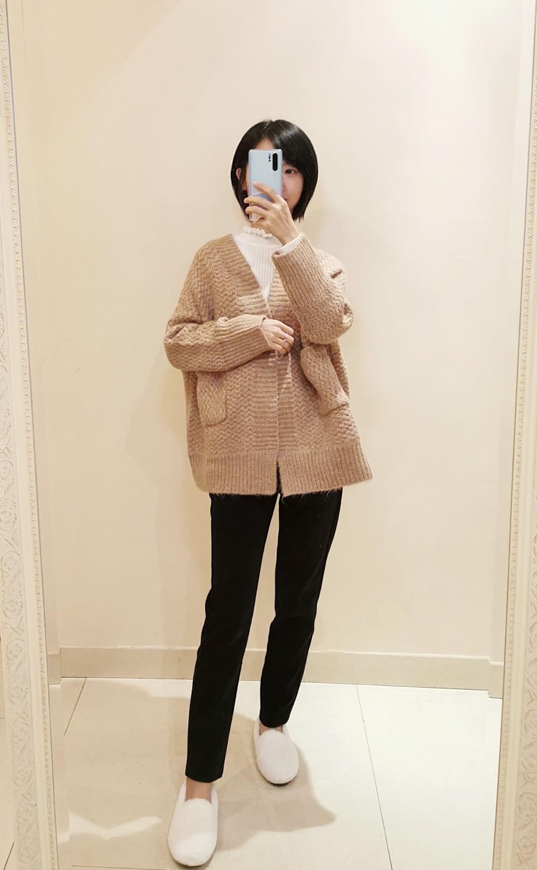 厚实的毛衣外套,很休闲的感觉😍😍😍 #秋冬毛衣控#