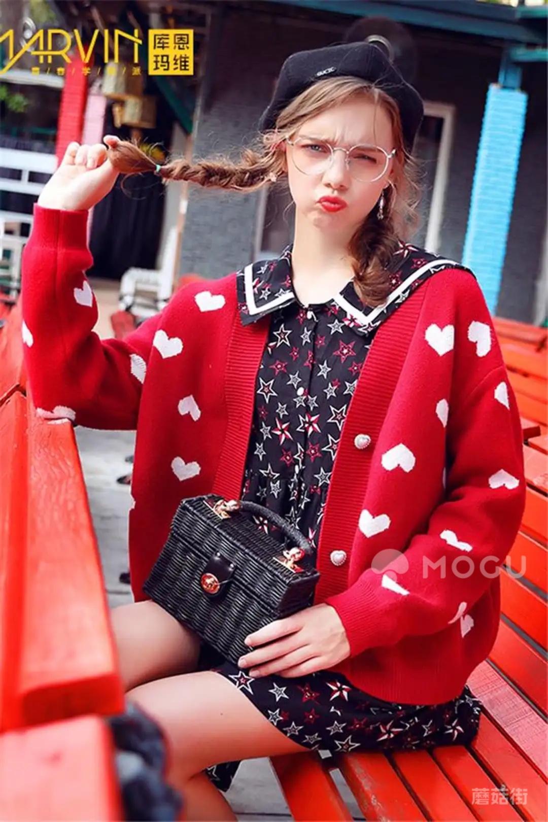强力推荐!红色网红慵懒风毛衣! #30天打卡挑战#