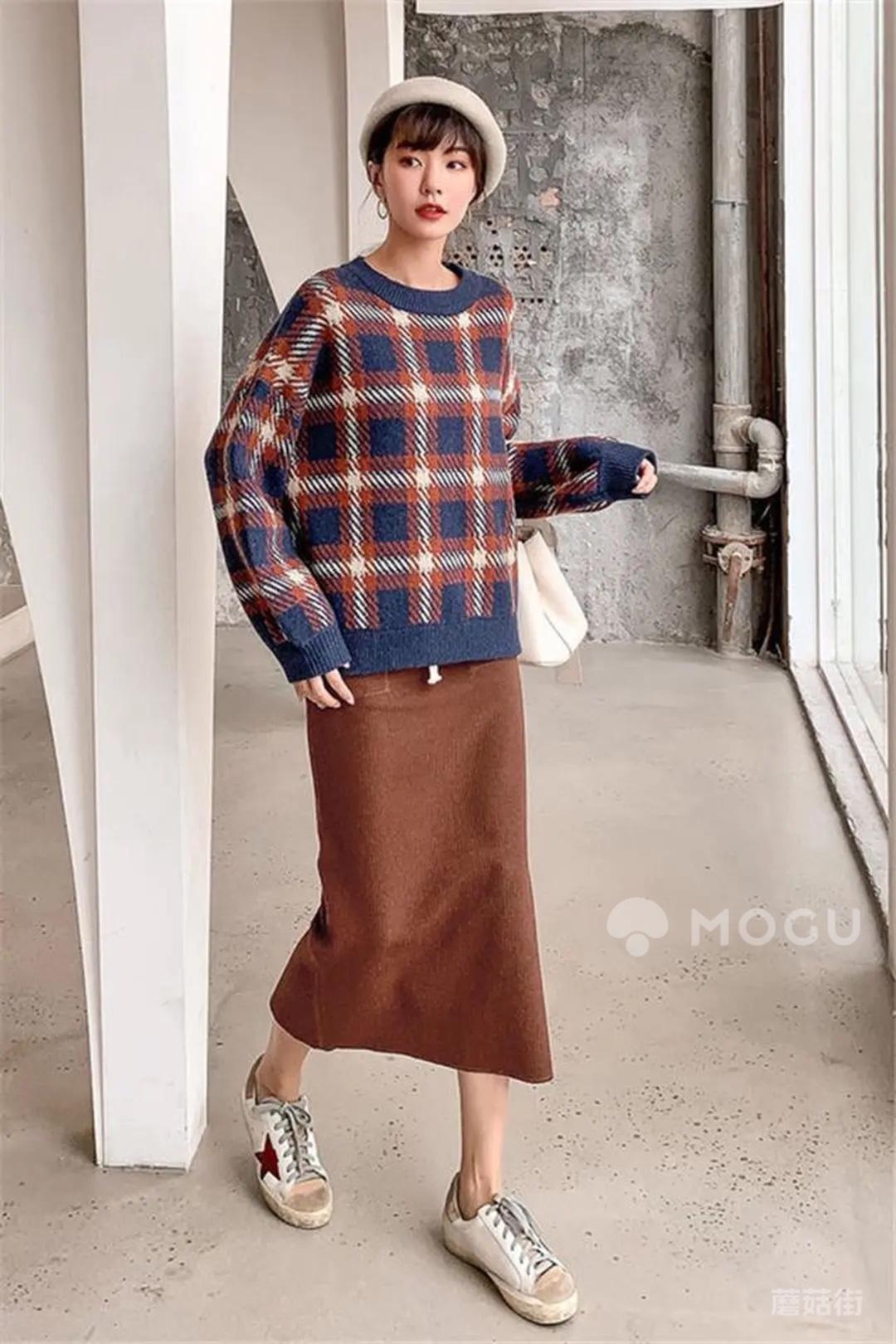 慵懒风的套头衫~#什么值得买#